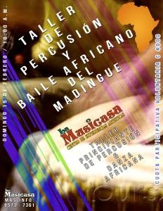 Taller de Percu y baile del Mandingue en La Musicasa