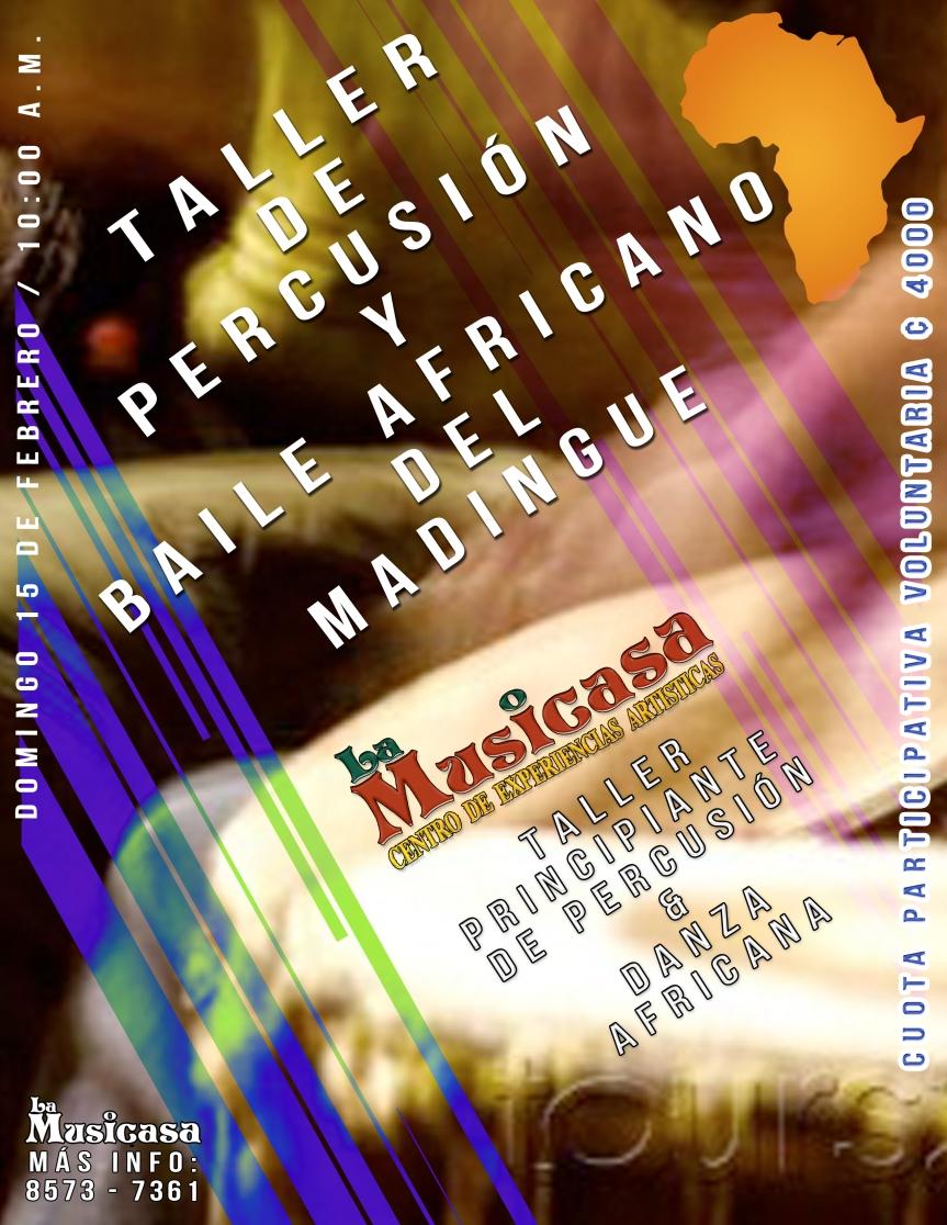 ! Sabiduría Africana en La Musicasa ! Taller de Percusión y danzaMandigue