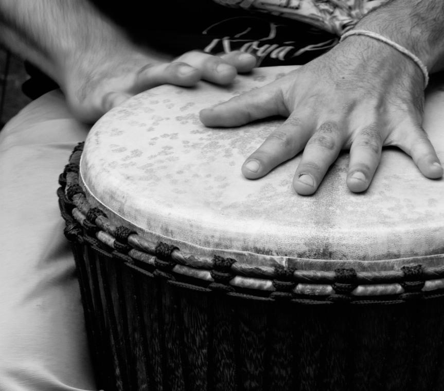 Taller de percusión Africana en LaMusicasa