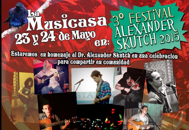La Musicasa 23 y 24 de Mayo en III festival AlexanderSkutch