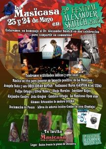 La Musicasa en Celebracion corredor biologico Alexander sKutch 23 y 24 de Mayo