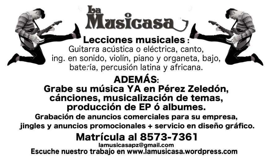 Lecciones de música en Pérez Zeledón Lama ya e inscríbete 85737361