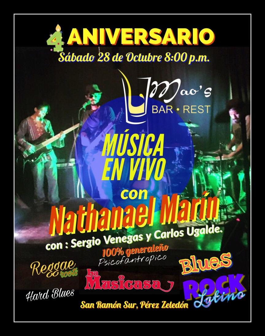 Celebrando 4 ANIVERSARIO de Maos Bar y Restaurante con música envivo