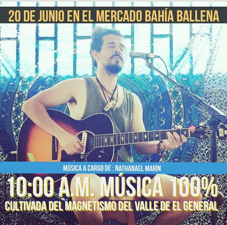 Música 100% original cultivada en el magnetismo del valle del general en El Mercado BahíaBallena.