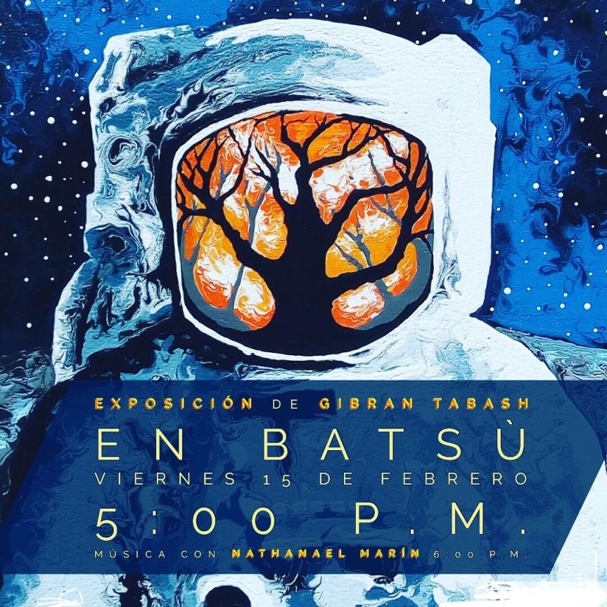 La inauguración de la  exposición de imágenes de  Gibran Tabash en Batsù con música experimental a cargo de NathanaelMarín.