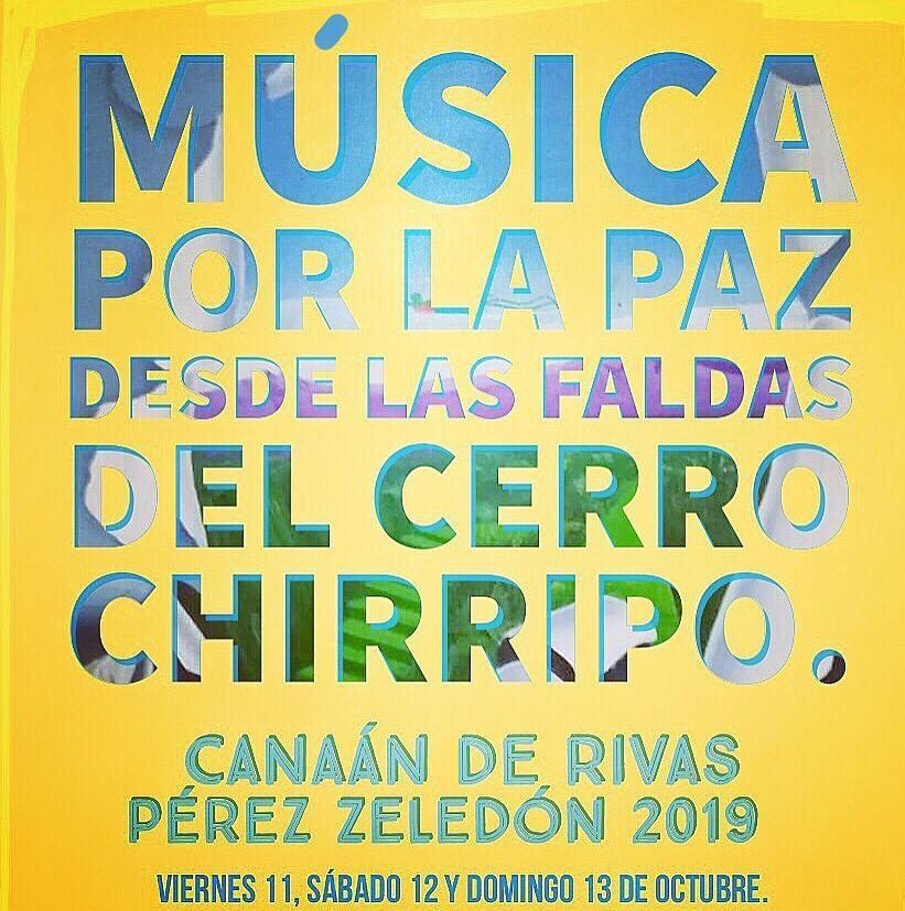 Música por La Paz desde las faldas del cerro Chirripo. Música por La Paz en Canaán deRivas.
