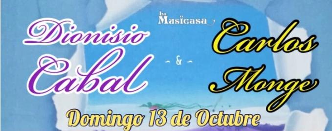 Concierto con Dionisio Cabal y Carlos Monge en Bastù GastroPub. Domingo 13 deOctubre.